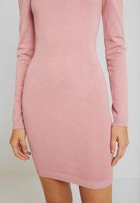 Missguided - PUFF SLEEVE MINI DRESS - Gebreide jurk - pink - 7