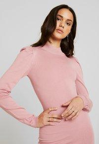 Missguided - PUFF SLEEVE MINI DRESS - Gebreide jurk - pink - 5