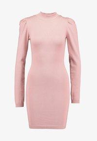 Missguided - PUFF SLEEVE MINI DRESS - Gebreide jurk - pink - 6
