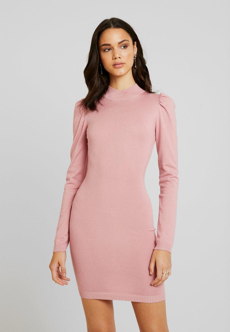 Missguided - PUFF SLEEVE MINI DRESS - Gebreide jurk - pink