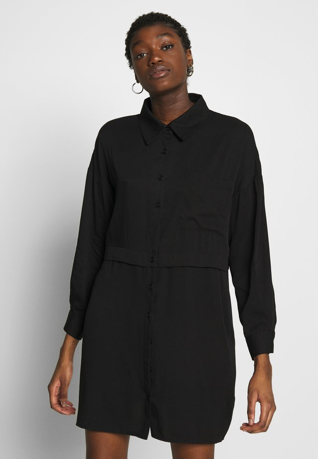UTILITY DRESS - Shirt dress - black
