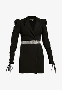 Missguided - CUFF EMBELLISHED BUCKLE BELT BLAZER DRESS - Kjole - black - 5