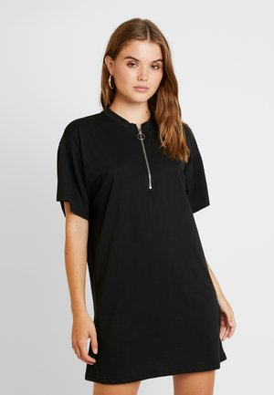 OVERSIZED SWEATER DRESS - Vestito estivo - black