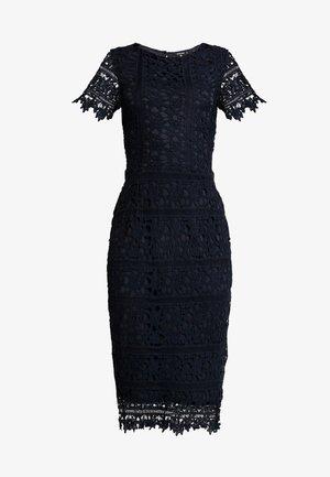 CROCHET OPEN BACK MIDI DRESS - Cocktail dress / Party dress - dark blue