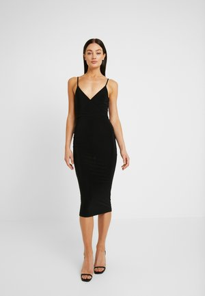 STRAPPY BACK SLINKY MIDI DRESS - Cocktail dress / Party dress - black