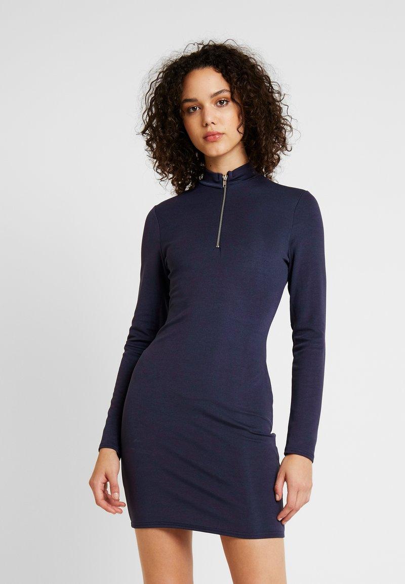 Missguided - ZIP FRONT MINI DRESS - Etuikleid - black