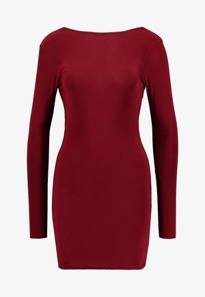 SLINKY CROSS BACK MINI DRESS - Etuikjole - burgundy