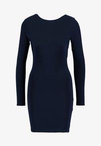 Missguided - SLINKY CROSS BACK MINI DRESS - Pouzdrové šaty - navy - 5