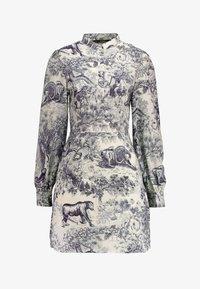 Missguided - CHINA PLATE ALINE SHIRT DRESS - Shirt dress - blue - 4