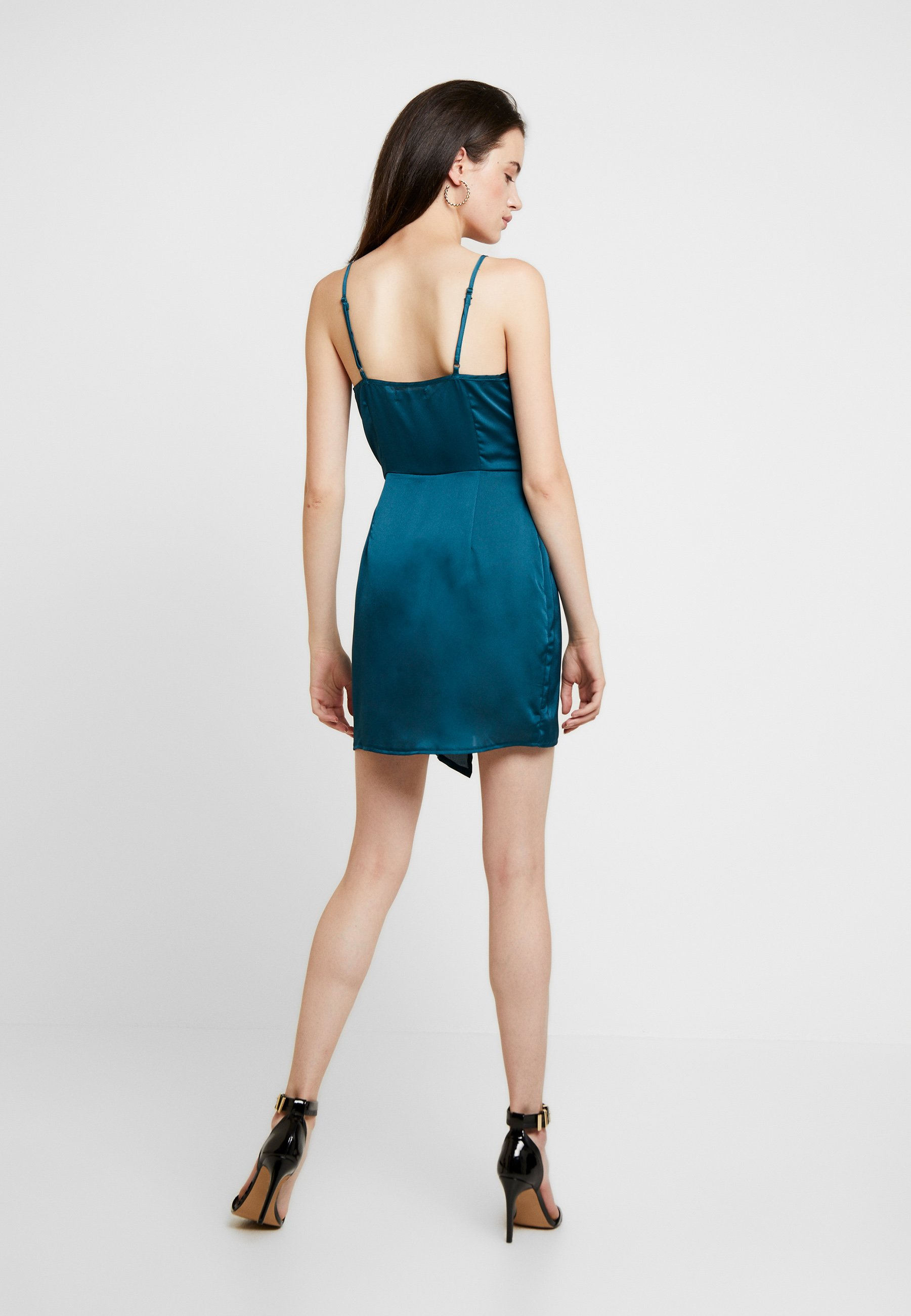 Missguided STRAPPY TWIST SHIFT DRESS - Robe d'été teal