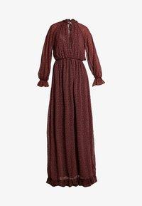 Missguided - FLORAL FRILL LONG SLEEVED DRESS - Vestido largo - red - 5