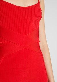 Missguided - CROSS FRONT BANDAGE CAMI DRESS - Pouzdrové šaty - red - 6