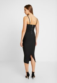 Missguided - CROSS FRONT BANDAGE CAMI DRESS - Kotelomekko - black - 2