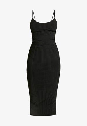 CROSS FRONT BANDAGE CAMI DRESS - Robe fourreau - black