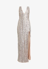 Missguided - PLUNGE EMBELISHED SPLIT LEG MAXI DRESS - Occasion wear - silver - 4