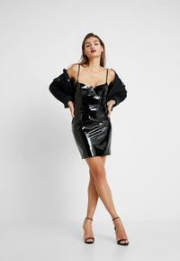 Missguided - HALLOWEEN CAMI MINI DRESS - Day dress - black - 1