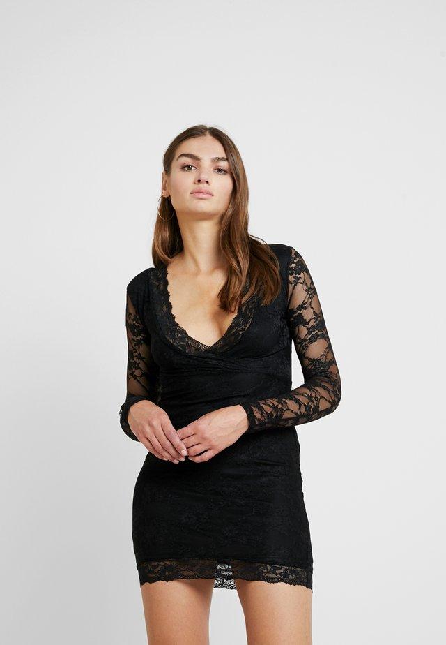 FRIDAY PLUNGE BODYCON MINI DRESS - Cocktail dress / Party dress - black
