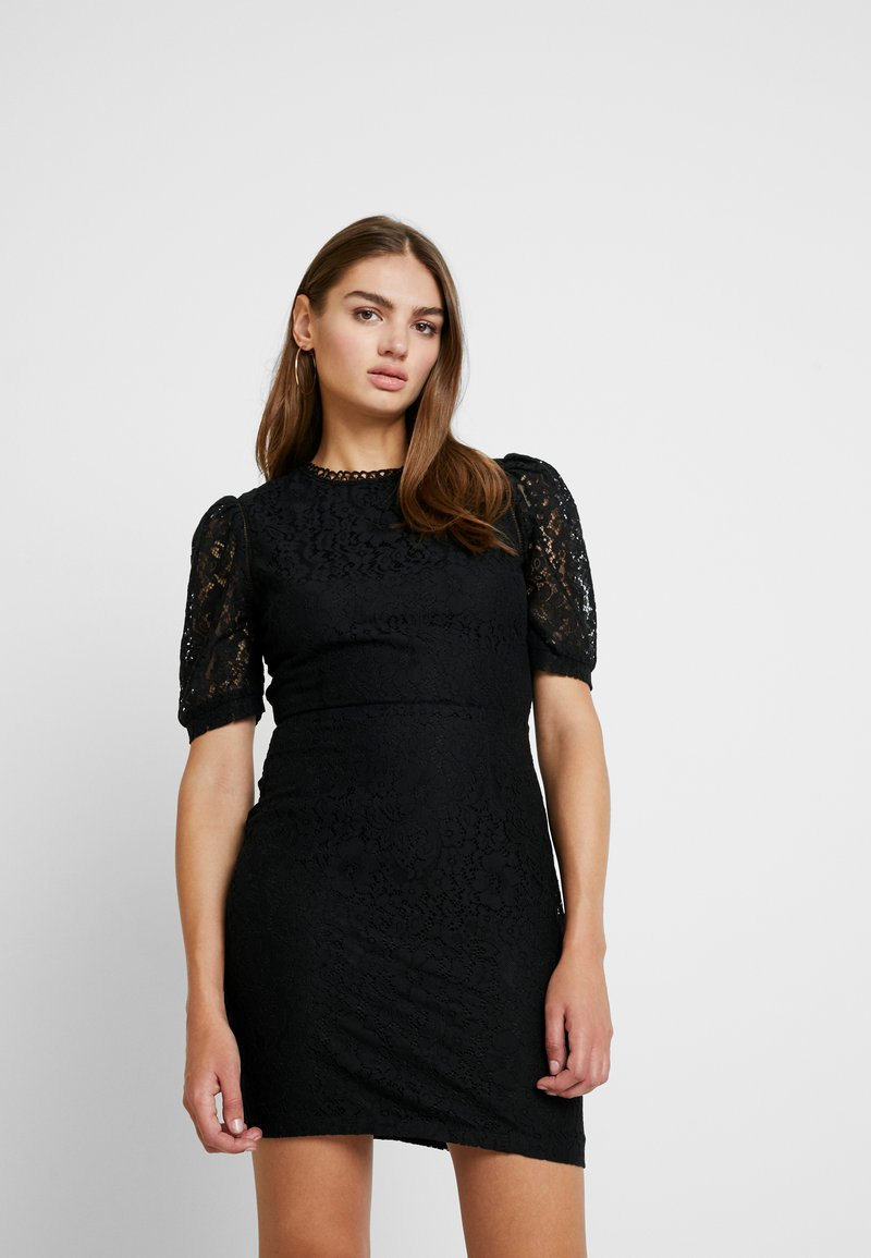 Missguided - FRIDAY SHORT SLEEVED OPEN BACK MINI DRESS - Cocktail dress / Party dress - black