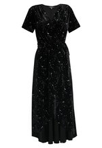 LIGHT MAGIC STAR WRAP MIDI DRESS - Maxi šaty - black - meta.domain