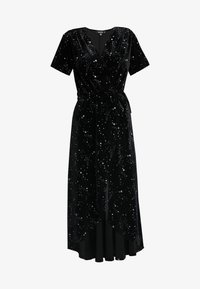 Missguided - LIGHT MAGIC STAR WRAP MIDI DRESS - Vestito lungo - black - 4