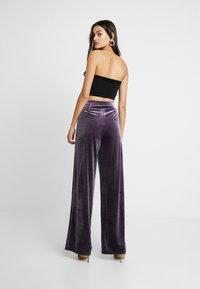 Missguided - LIGHT MAGIC WIDE LEG TROUSERS - Kalhoty - purple - 2