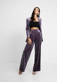 Missguided - LIGHT MAGIC WIDE LEG TROUSERS - Kalhoty - purple - 1