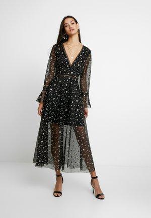LIGHT MAGIC GLITTER FLARED SLEEVES MAXI DRESS - Maxi šaty - black