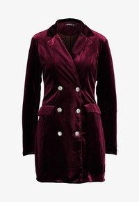 Missguided - LIGHT MAGIC BUTTON BLAZER DRESS - Kjole - burgundy - 4