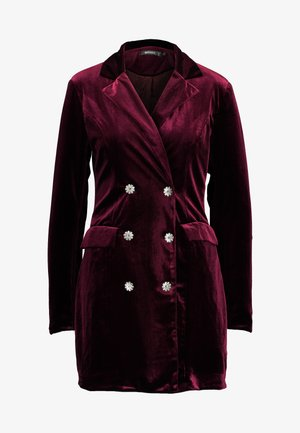 LIGHT MAGIC BUTTON BLAZER DRESS - Korte jurk - burgundy