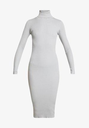 ROLL NECK MIDI DRESS - Shift dress - grey