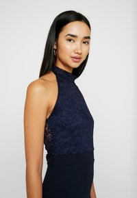 Missguided - BRIDESMAID HALTERNECK FISHTAIL MAXI - Galajurk - navy - 6