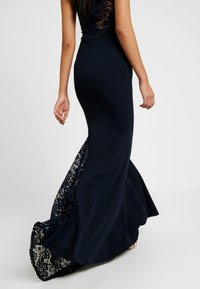 Missguided - BRIDESMAID HALTERNECK FISHTAIL MAXI - Galajurk - navy - 4