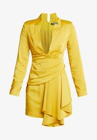 Missguided - DRAPE PLEATED DRESS - Juhlamekko - chartuse - 5