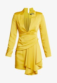 Missguided - DRAPE PLEATED DRESS - Cocktailkleid/festliches Kleid - chartuse - 5