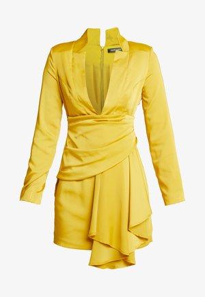 DRAPE PLEATED DRESS - Vestito elegante - chartuse