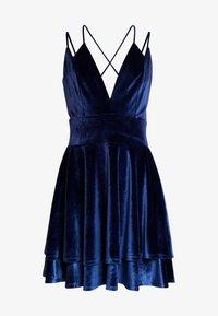 Missguided - STRAPPY CROSS BACK MINI DRESS - Robe de soirée - navy - 4