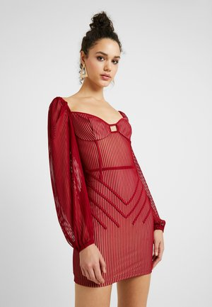 PANELLED MINI DRESS - Robe fourreau - burgundy