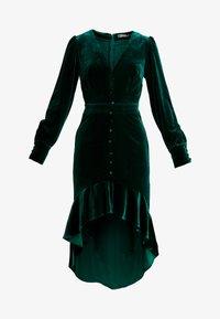 Missguided - BUTTON UP HIGH LOW DRESS - Hverdagskjoler - emerald - 6