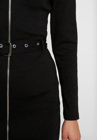 Missguided - POLO ZIP FRONT MINI DRESS - Vestido de tubo - black - 6