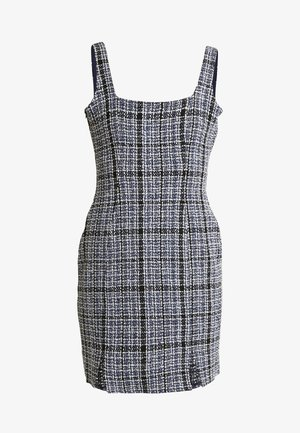 BOUCLE SQUARE NECK CAMI MINI DRESS - Etui-jurk - navy