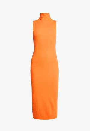 JORDAN LIPSCOMBE HIGH NECK RIB SLEEVLESS MIDAXI DRESS - Jersey dress - orange