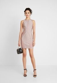 Missguided - BANDAGE DRESS - Shift dress - pink - 2