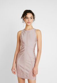 Missguided - BANDAGE DRESS - Shift dress - pink - 0