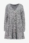 BUTTON THROUGH SMOCK POLKA DOT - Korte jurk - black/white