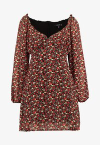Missguided - MILKMAID DRESS FLORAL - Kjole - red - 4