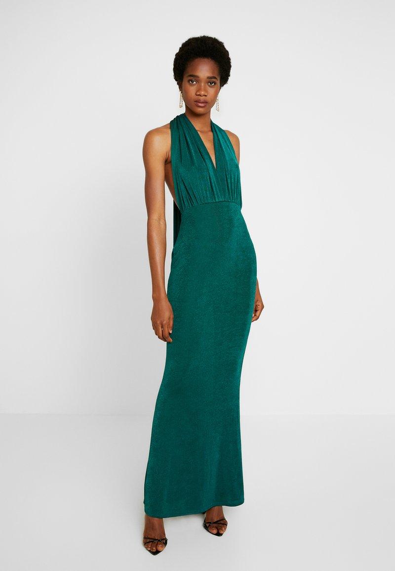 Missguided - SLINKY MULTIWAY DRESS - Společenské šaty - green teal