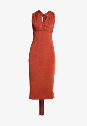 SLINKY MULTIWAY MIDI DRESS - Jersey dress - rust