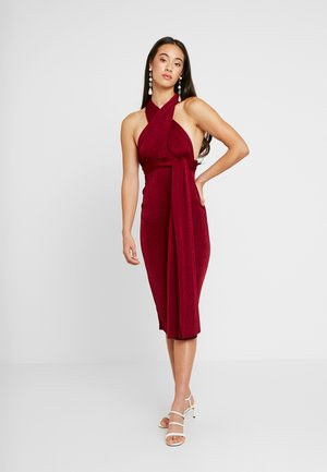SLINKY MULTIWAY MIDI DRESS - Žerzejové šaty - dark red