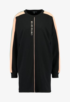 OVERSIZED SWEATER DRESS BLOCK - Vestito estivo - black