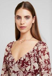 Missguided - MILKMAID MIDAXI DRESS - Robe longue - burgundy - 3